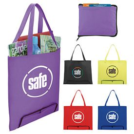 Promotional The Compact Zipper Folding Tote Bag