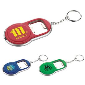 Promotional Round Led Key-Light-Bottle Opener