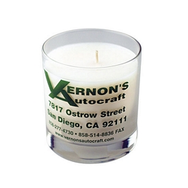 Promotional 11 Oz Clear Glass Candle
