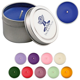 Promotional 2 Oz Personal Candle Lid Tin