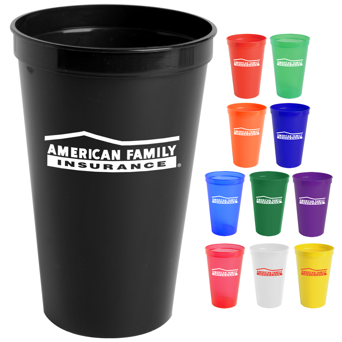 Promotional 22 Oz Polypropylene Stadium Cup Customized