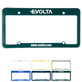 Promotional License Plate Frame 4 Holes With Straight Top
