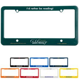 Promotional License Plate Frame 4 Holes With Straight Bottom