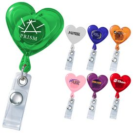 Promotional Heart Secure-A-Badge Holder
