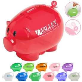Promotional Pig Tail Action Piggy Bank