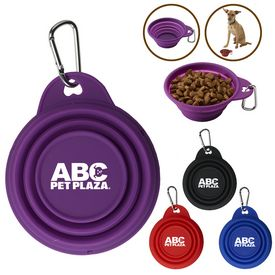 Custom 8 Oz Pet Collapsi-Bowl With Carabiner