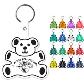 Custom Teddy Bear Flexible Key Fob