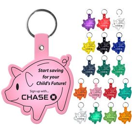 Promotional Piggy Bank Flexible Key Fob