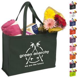 Promotional Non-Woven 12X16X6 Polypropylene Reinforced Shopping Tote