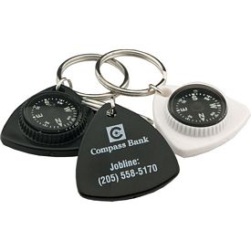 Custom Triangle Compass Key Chain