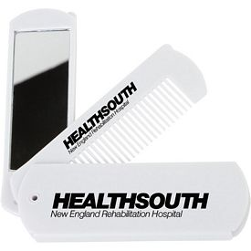 Promotional Folding Comb With Mirror