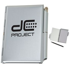 Promotional Aluminum Jotter With Metal Pen