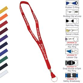 Custom 5-8 Two Ply Polyester Lanyard