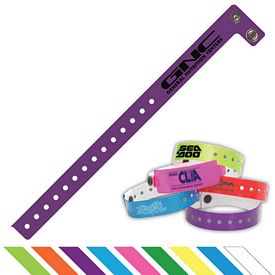 Promotional 3-4 Vinyl Event Access Resnap Wristband
