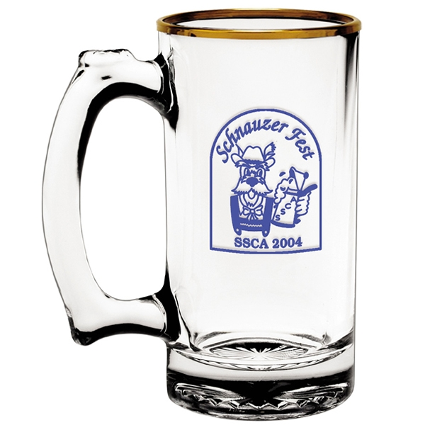 Promotional 12 5 Oz Thumbprint Glass Tankard Customized