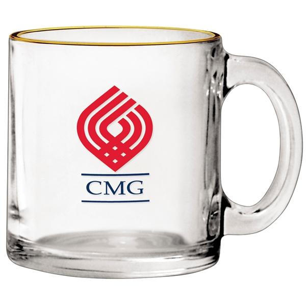 Promotional 13 Oz Clear Glass Coffee Mug Customized 13