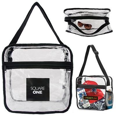Promotional Clear Event Messenger Bag
