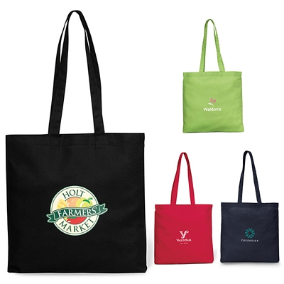Promotional 5 oz Economy Cotton Canvas Tote Bag