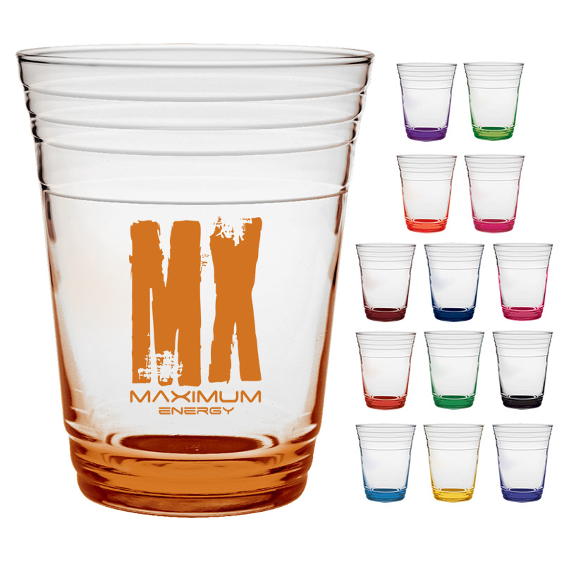 Promotional 16 oz. Glass Fill Up Cup with Custom Glow ...