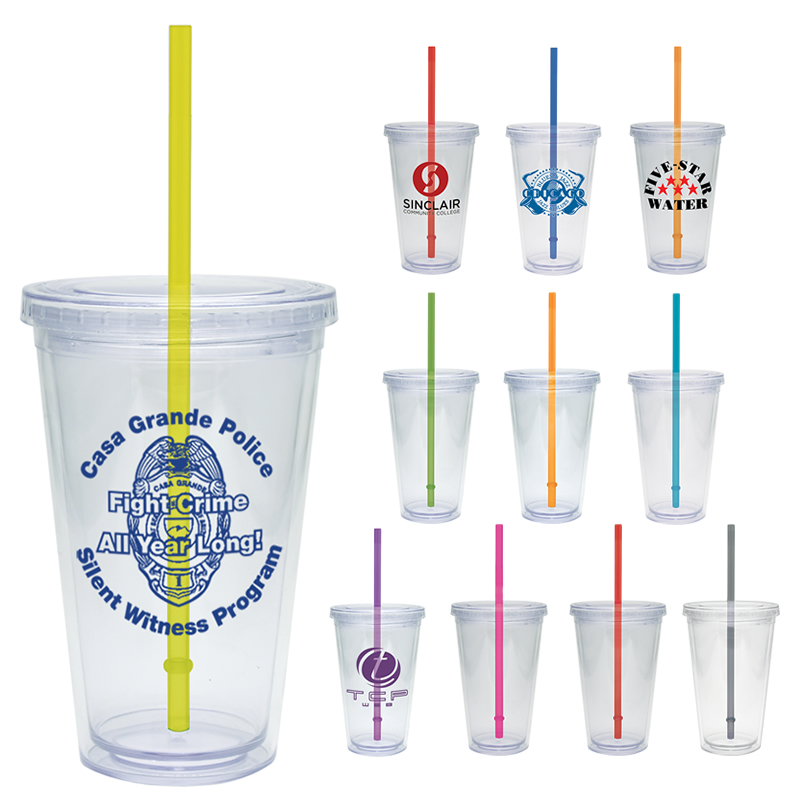 Promotional 16 Oz Clear Classic Acrylic Carnival Cup Customized