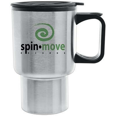 Promotional 14 oz. Super Saver Stainless Steel Travel Mug