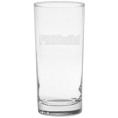 Promotional 15 oz. Deluxe Cooler Glass with Deep Etching