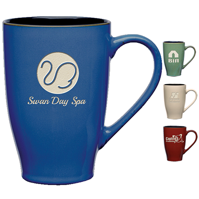 Promotional 24 oz. Sherwood Grande Coffee Mug with Deep Etching