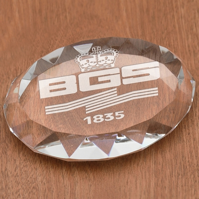 Promotional Faceted Oval Paperweight