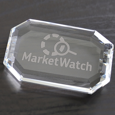 Promotional Faceted Rectangle Paperweight