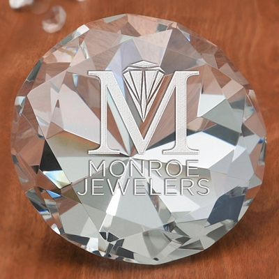 Promotional Large Diamante Paperweight