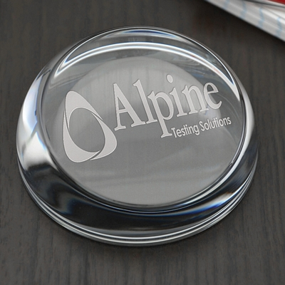 Promotional Slice Face Paperweight