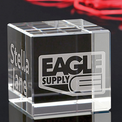 Promotional Small Cube Award