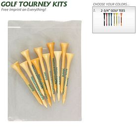 Customized Golf Tourney Pack 5: 10 Tall 2-3-4 Golf Tees