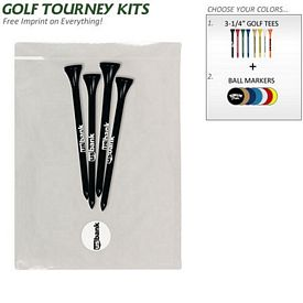 Promotional Golf Tourney Pack 6: 4 Plus Tees 1 Ball Marker