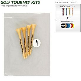 Custom Golf Tourney Pack 7: 4 Tall Tees 1 Ball Marker