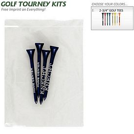 Promotional Golf Tourney Pack 12: 4 Tall 2-3-4 Golf Tees