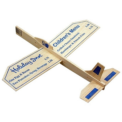 "Promotional 9"" Balsa Wooden Toy Airplane Glider"
