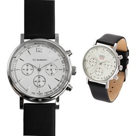 Custom San Martino Leather Strap White Watch