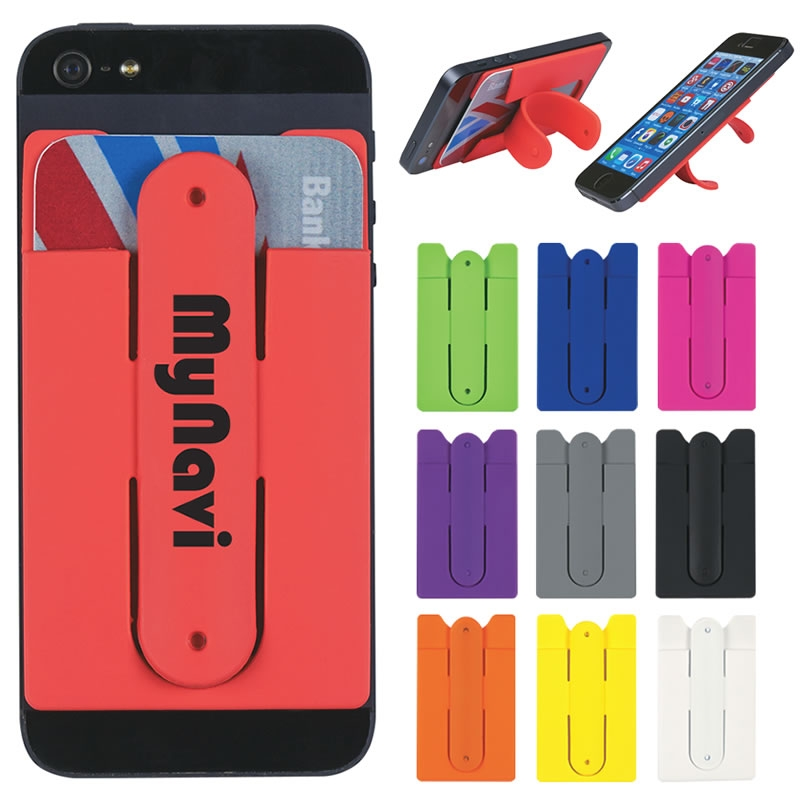 Promotional Silicone Phone Wallet Stand Customized