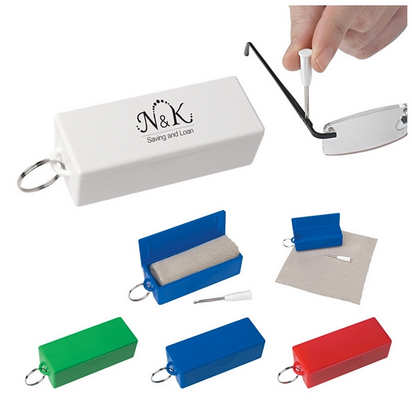 promotional eyeglass tool with cleaning cloth customized