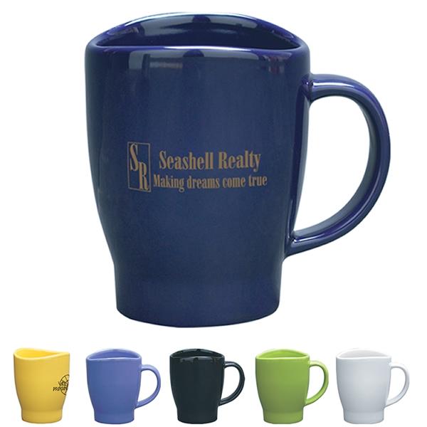 Promotional 14 Oz Wave Coffee Mug Customized 14 Oz