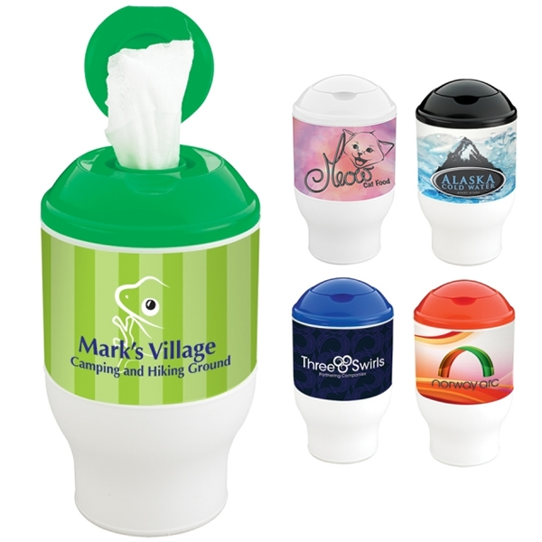 Promotional Wet Wipe Container Cup Customized Wet Wipe