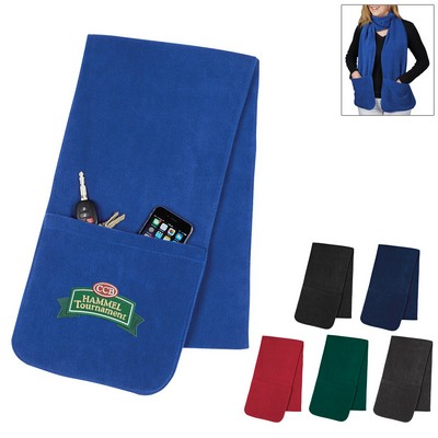 Promotional Fleece Scarf With Pockets