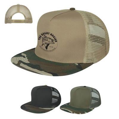 Customized Flatbill Camo Cap
