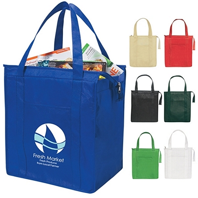 Promotional Non-Woven Insulated Shopper Tote Bag