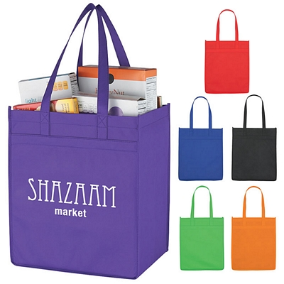 Custom Non-Woven Market Shopper Tote Bag