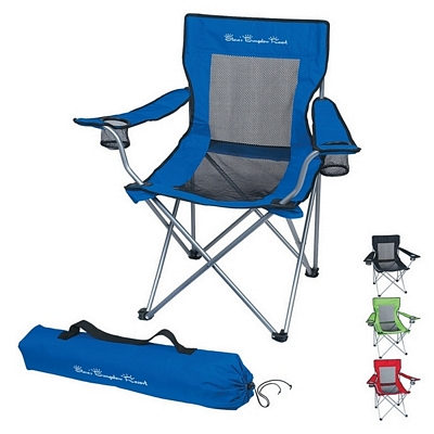 Promotional Mesh Folding Chair With Carrying Bag