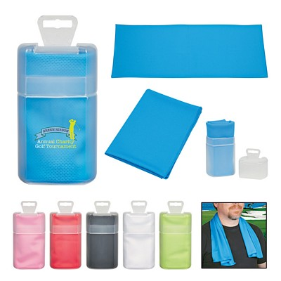 Promotional Sport Towel In Plastic Case