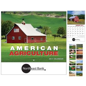 Promotional American Agriculture Wall Calendar - Spiral