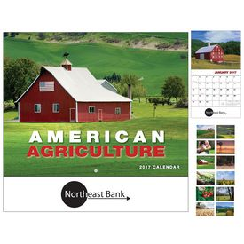 Customized American Agriculture Wall Calendar - Stapled